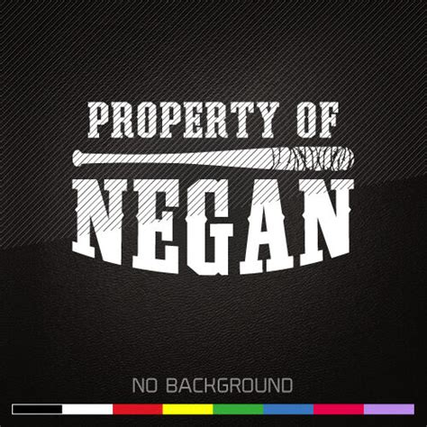 the walking dead decal sticker property of negan