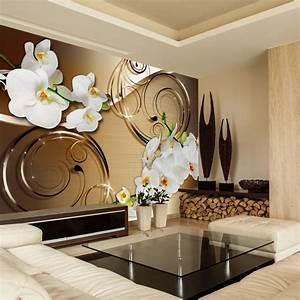 Design Wandbilder Xxl : vlies tapete top fototapete wandbilder xxl 350x256 cm abstrakt blumen orchidee ornament ~ Markanthonyermac.com Haus und Dekorationen