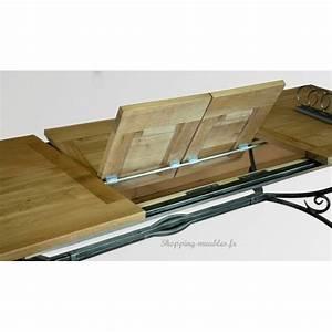 Pied En Fer Forgé : table rectangulaire pieds fer forg collioure ~ Teatrodelosmanantiales.com Idées de Décoration