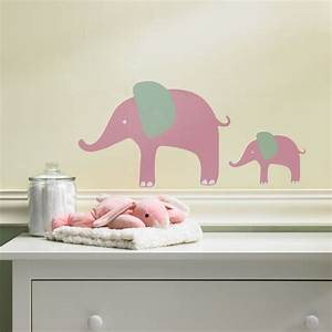 Interior creative baby nursery room decoration using for What kind of paint to use on kitchen cabinets for baby elephant stickers