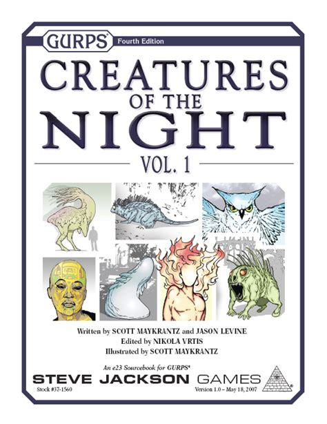 Creature Of Habit Book 1 Volume 1 by Gurps Creatures Of The Vol 1