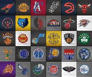Hoop It Up Recycled Vintage Basketball League Team Logos ...