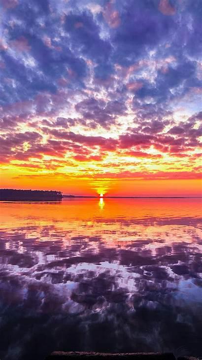 Nature Sunset Beach Sea Iphone 4k Reflection