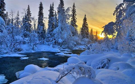 Nature Snow Landscape Wallpaper  Pic Wide Hd Wallpapers
