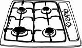 Cooktop Stove Clipart Template Coloring Openclipart Jiangyi Dmca Complaint Favorite sketch template