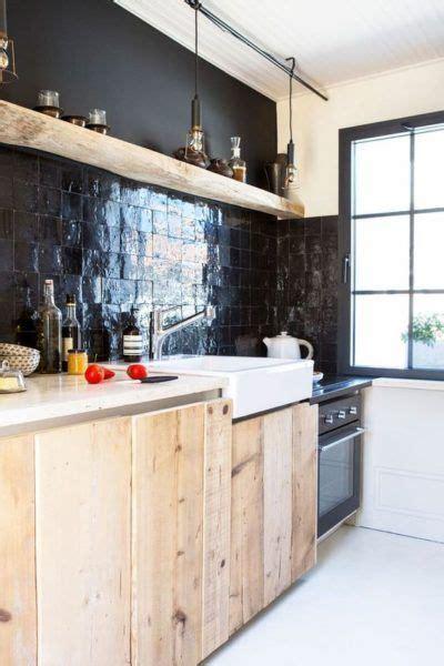credence cuisine bois zellige dans la déco cuisine en bois crédence en