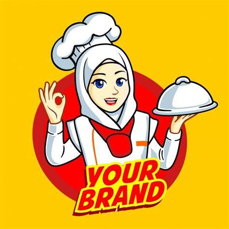 koki chef muslimah vector jilbab gallery