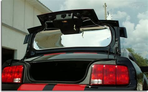 polished stainless trunk lid panel