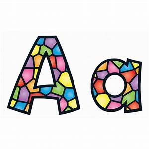 Stained Glass Alphabet Display Letters