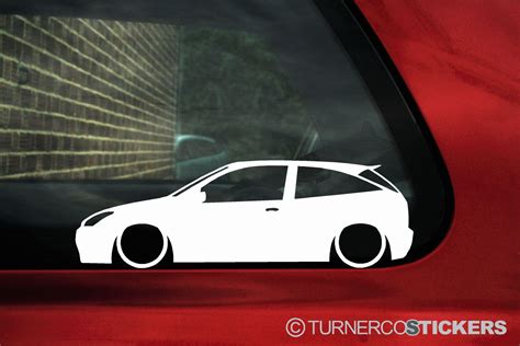 ford focus st rs mk lowered outline silhouette