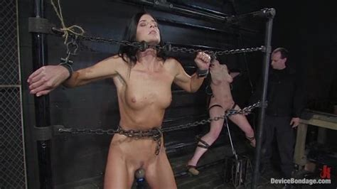 Busty Brunette Mom And Her Teen Daughter Have Their First Experience With Bad Tortured And Hard