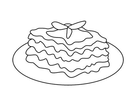 dibujo de lasana  colorear dibujosnet