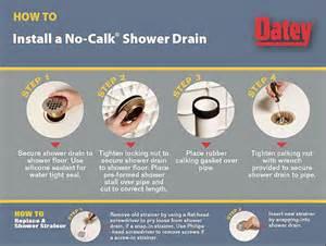 Oatey Shower Drain Installation Image