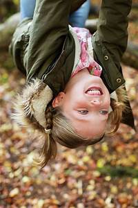 Young, Girl, Hanging, Upside, Down, Photograph, By, Science, Photo