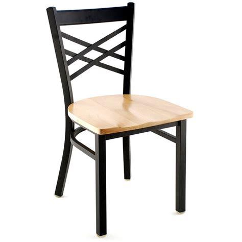 x back metal restaurant chair