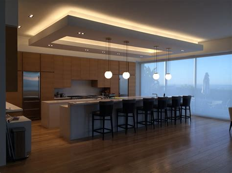 designed and built custom kitchen soffit with new direct