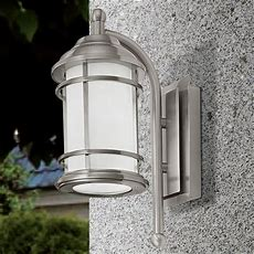 Eglo 90208 Portici Outdoor Ip44 Stainless Steel Down Wall