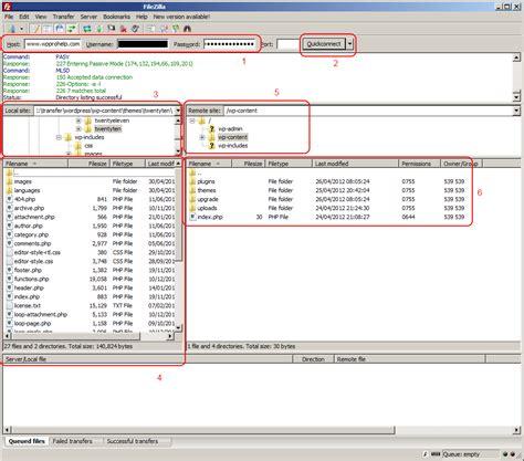 ftp  transfer files  wordpress