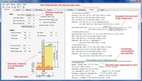 wall design software retaining wall design asdip retain version 3 release