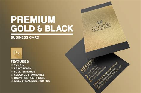 And may be used everywhere visa debit cards are accepted. Premium Gold And Black Business Card ~ Business Card ...