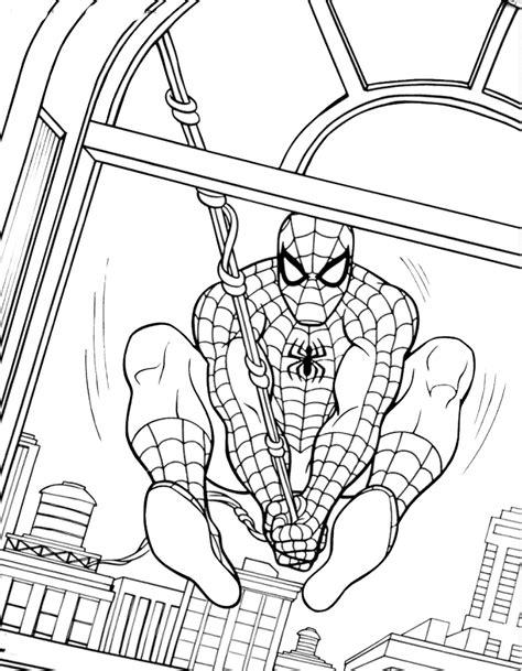 disegni da colorare uomo ragno gratis da colorare