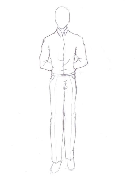 Easy Drawing Person Standing