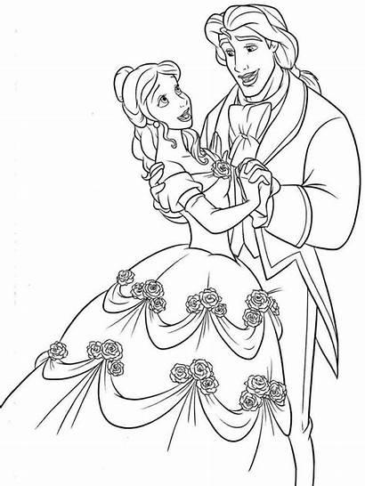 Coloring Belle Pages Disney Princess Rocks Adult