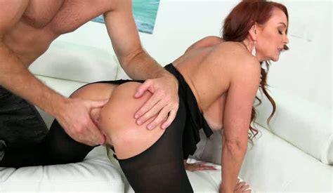 Beautiful Redhead In Black Stockings Had Steamy Doggy