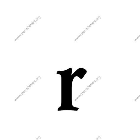 decorative bold uppercase lowercase letter stencils