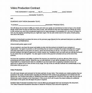 Videography contract template 9 download free documents for Wedding video contract template