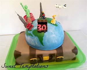 World Travel Birthday Cake - CakeCentral com