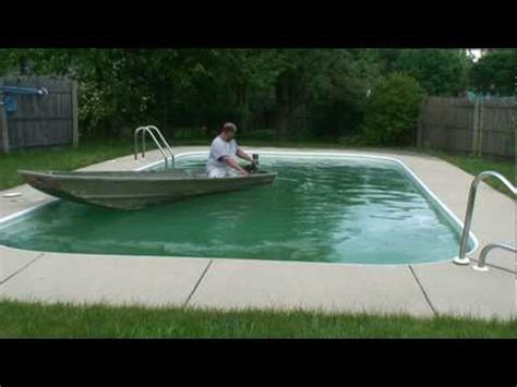 Jon Boat Vs Inflatable by Jon Boat In Pool How To Save Money And Do It Yourself