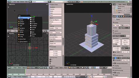 crear  edificio  figuras basicas mesh en blender
