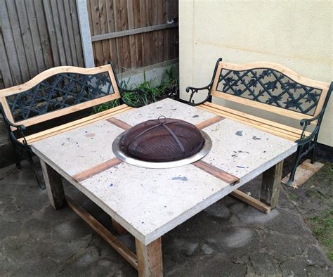 wood burning pit table and chairs pit design ideas