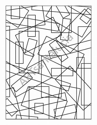 Coloring Adult Random Colouring Geometric Imagine Shapes