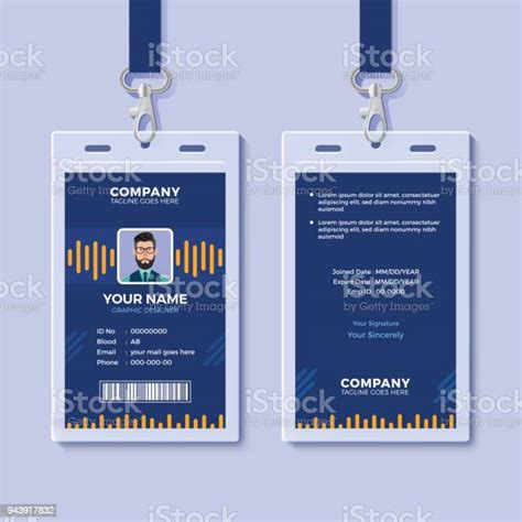 Great savings & free delivery / collection on many items. Blue Id Card Template With Yellow Graphics Stock Illustration - Download Image Now - iStock