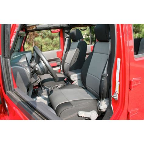 All Things Jeep  Neoprene Front Seat Cover Pair For Jeep