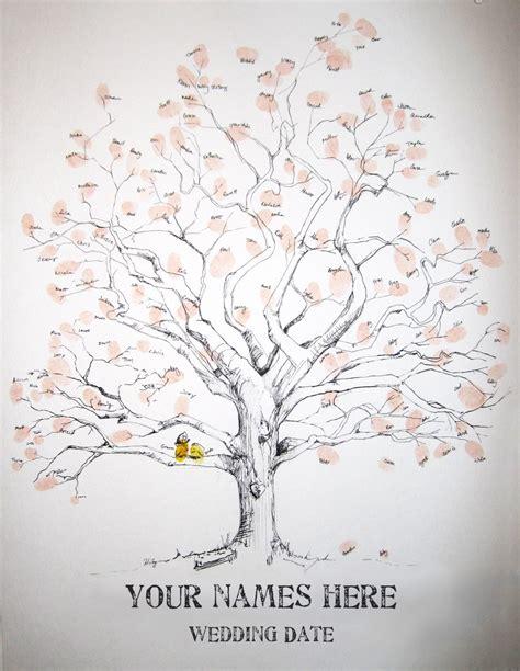 reserved for crystald588 guest book fingerprint tree