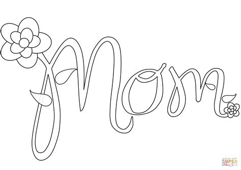 mom coloring page  printable coloring pages