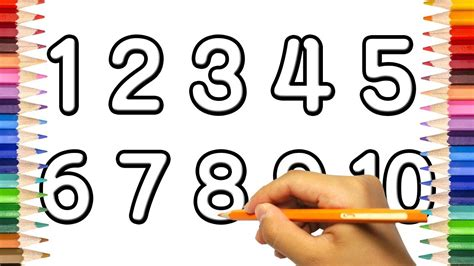 draw numbers   learn  count