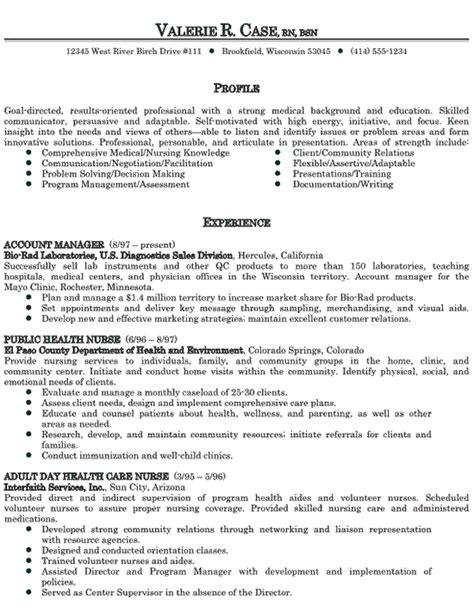 Resume Sle For Nursing healthcare sales get a sales resume nursing