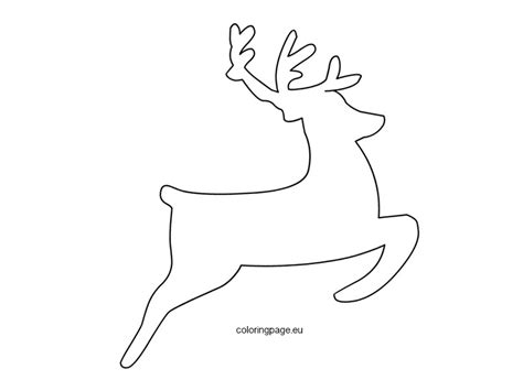 reindeer template printable reindeer templates invitation template