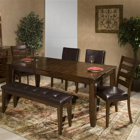 6 Piece Dining Room Set With Parson's And Ladder Back Side
