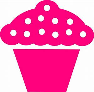 Polka Dot Cupcake Black Clip Art at Clker.com - vector ...
