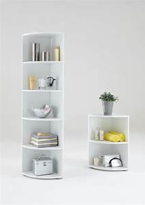 Meuble Salle De Bain Gifi : etagere d 39 angle ecki 1 blanc ~ Dailycaller-alerts.com Idées de Décoration