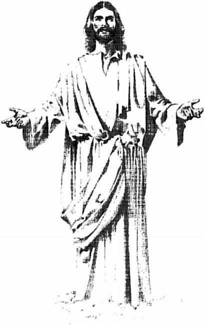 Jesus Cross Clipart Christ Drawings Stencil Easy