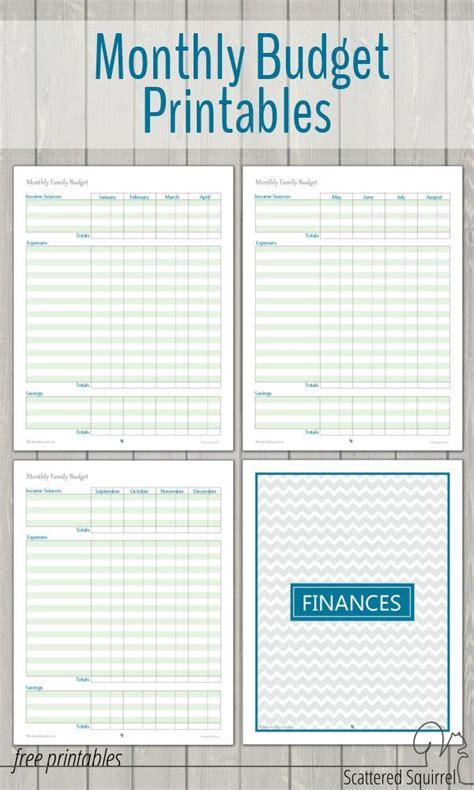 monthly family budget printables planner stickers