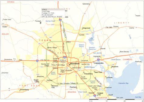 map  houston tx surrounding areas today zip codes