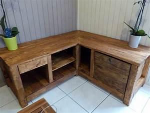 frais meuble de cuisine en palette beau design a la With fabriquer un meuble avec des palettes