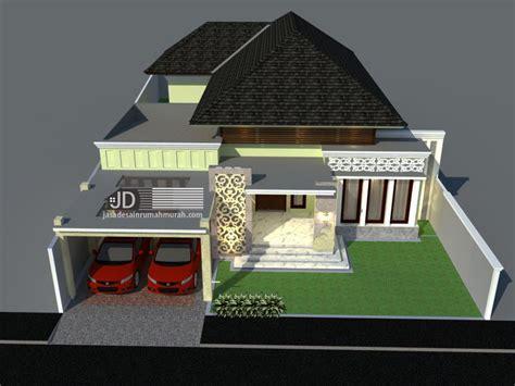 desain rumah bali modern  lantai bapak erwin  cilegon